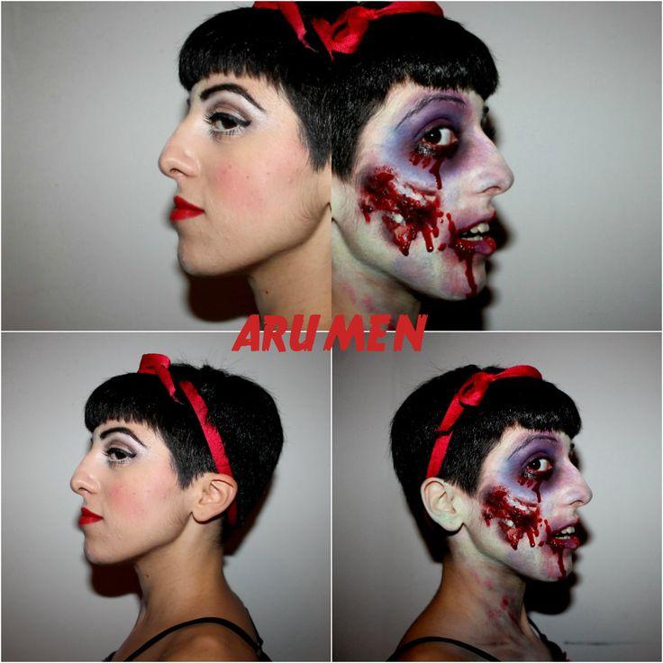 zombie snow white.. halloween makeup