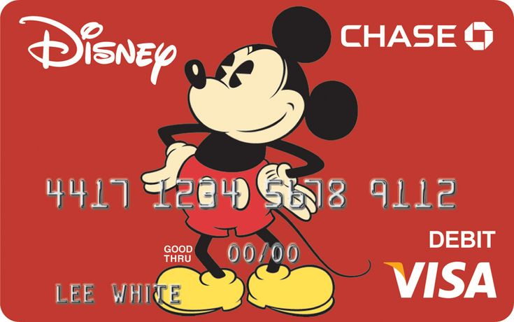 New Disney Debit Card from Chase