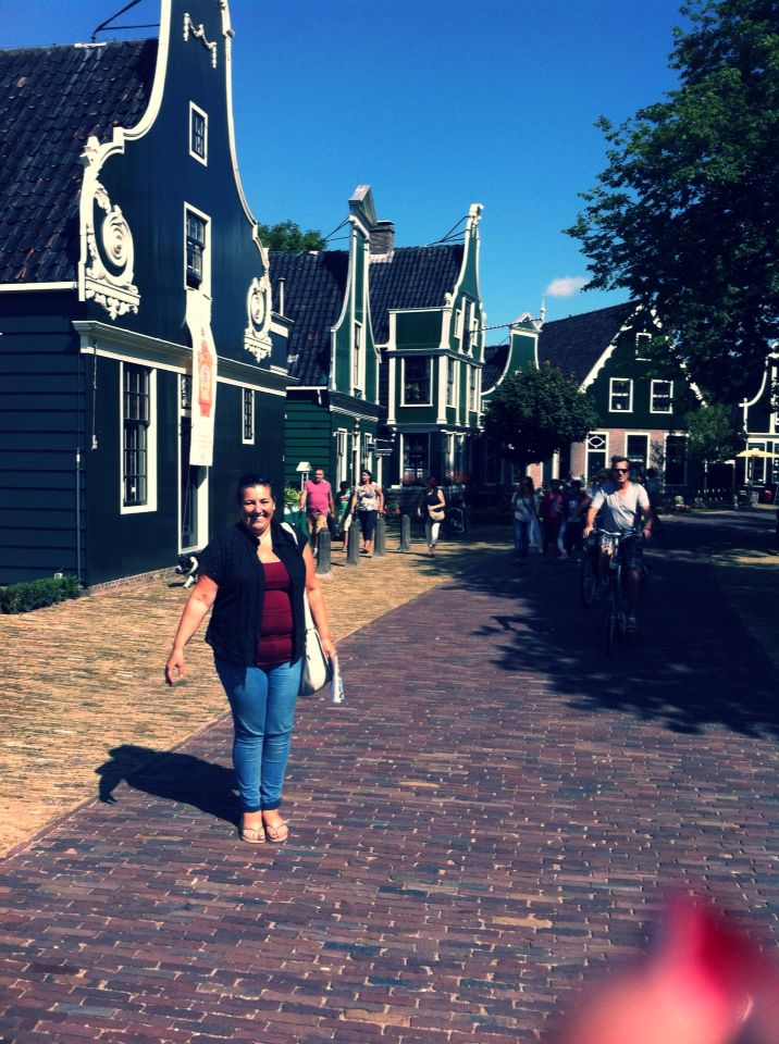 My beautiful mom in front of the Zaanse Schans @ The Netherlands.   Felies01  
