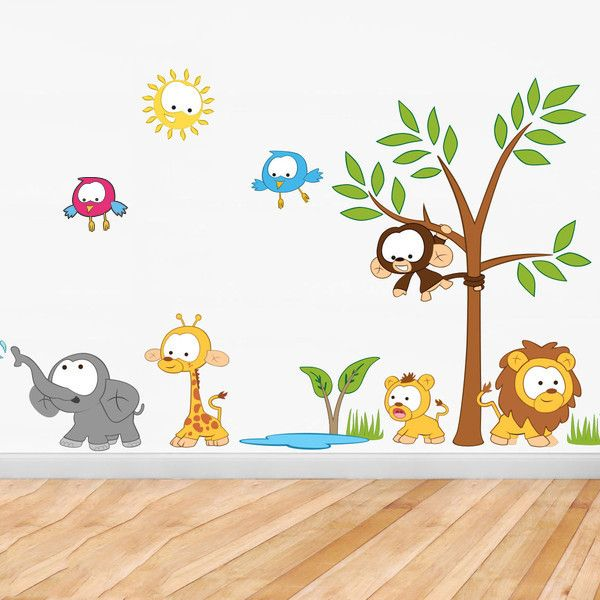 Baby Jungle Scene Wall Stickers Part 97
