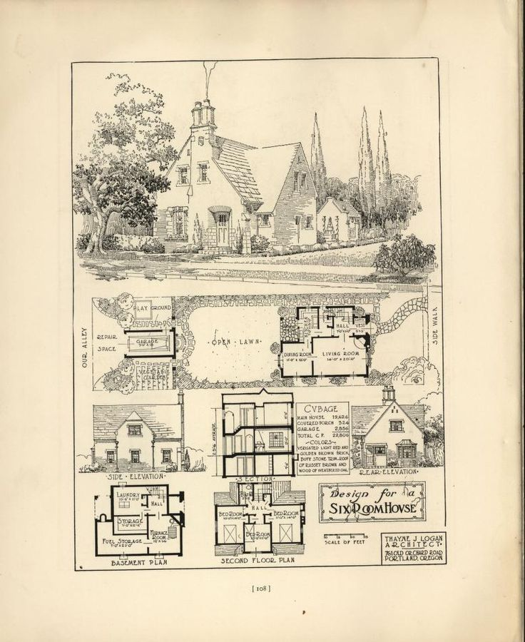 Best Vintage House Plan Images On Pinterest Vintage Houses