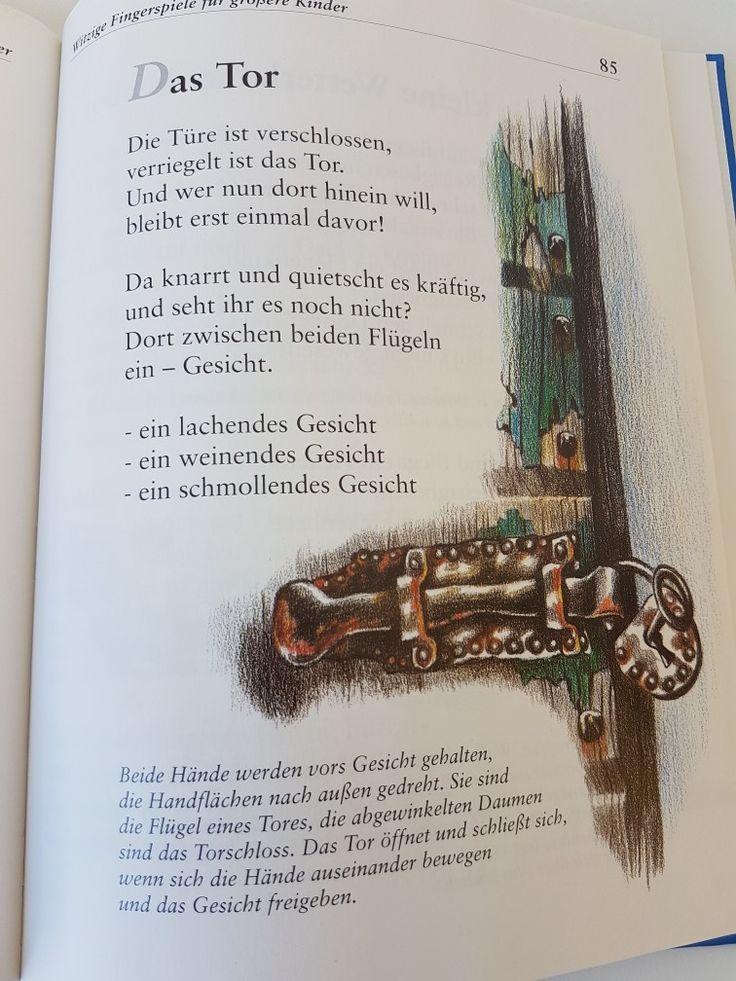 Das Tor #fingerspiel #kita #kindergarten  #kind #reim #gedicht #erzieherin #erzieher