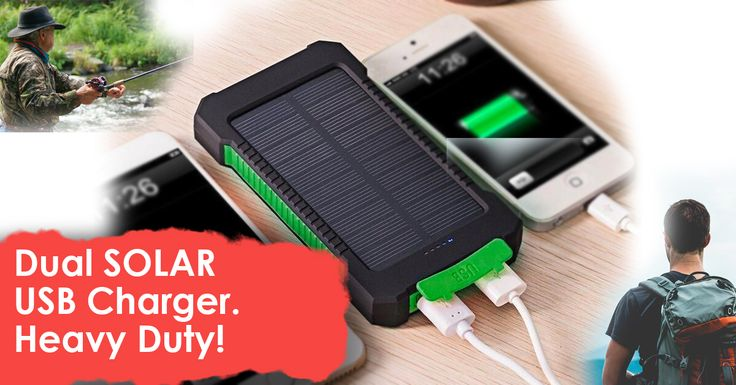 A  Great Product ! DUAL Solar panel charger external battery backup for products which need to charge with USB, MP3, MP4, PSP, GPS, Digital Camera, etc. As for other special mobile phones or other devices, you can also connect the portable power bank by using your original USB data cable.  #camping #survival #Hunting #Outdoors #survivalproducts #boating #fishingboats #fishing #campinggear #campinghacks #campingideas