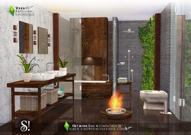Verat Luxury Bathroom At Simcredible Designs 4 Sims House Luxury Bathroom Sims 4