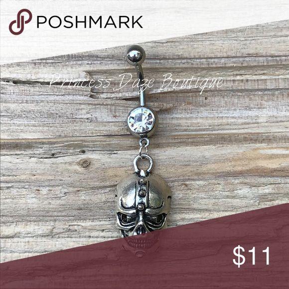 Silber Schädel Bauchnabel Ring Bauchnabelpiercing Körperschmuck Material: 316L Surgi …   – My Posh Picks