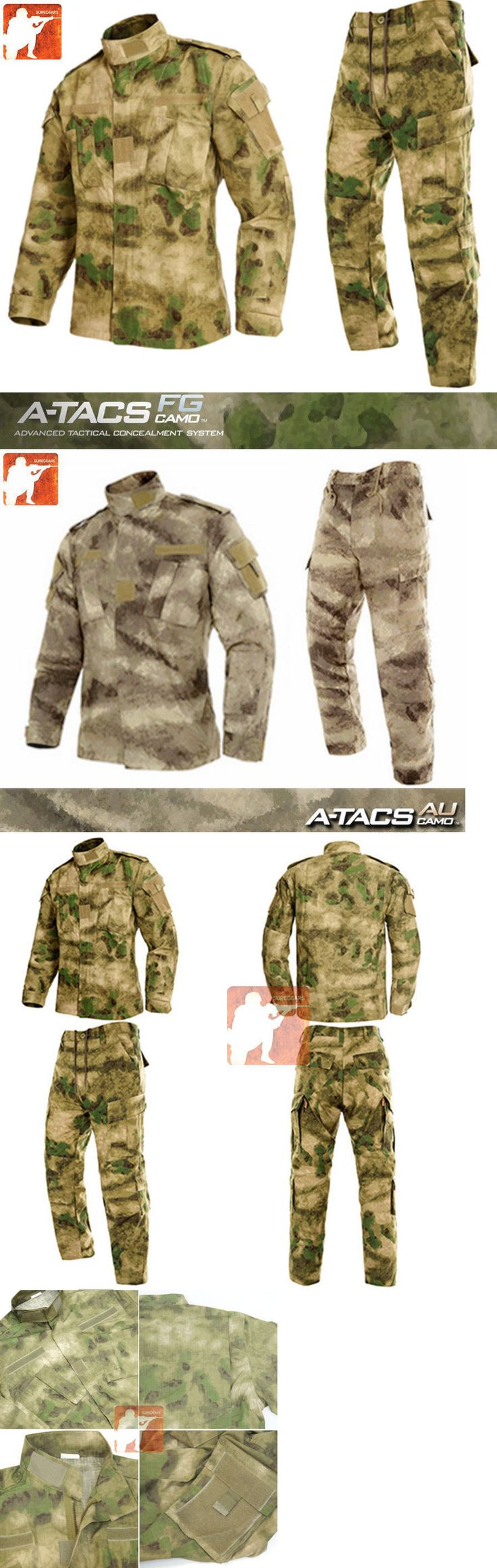 Jacket and Pant Sets 177872: A-Tacs Fg Au Military Bdu Tactical Uniform Shirt Pants Hunting Airsoft Suit Set -> BUY IT NOW ONLY: $43.99 on eBay!