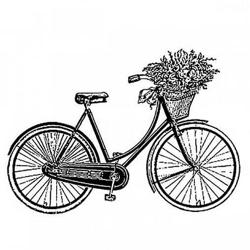 natvorenie / gumenné razítko bicykel