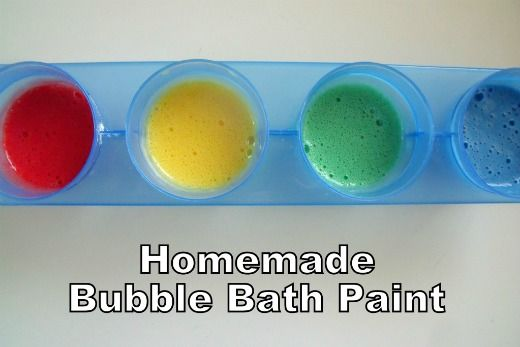 Homemade bubble bath paint shared by Make ,Do, & Friend on Growing A Jeweled Rose