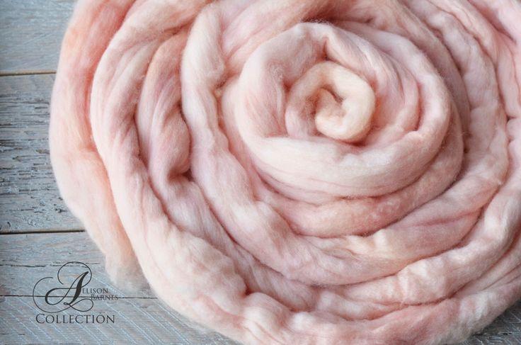 Merino Wool Top for Spinning or Felting - Peach Blush by allisonbCOLLECTION on Etsy https://www.etsy.com/ca/listing/483354154/merino-wool-top-for-spinning-or-felting