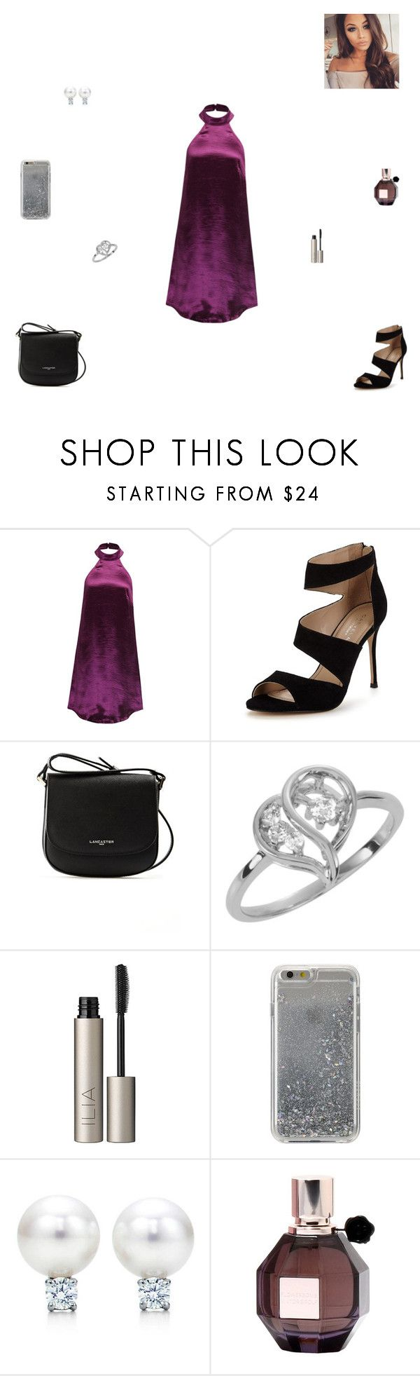"""dressy party"" by synclairel ❤ liked on Polyvore featuring WithChic, Carvela, Lancaster, Ilia, Agent 18, Viktor & Rolf, Winter, cute, casual and ootd"
