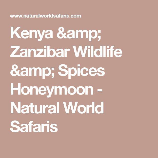 Kenya & Zanzibar Wildlife & Spices Honeymoon - Natural World Safaris