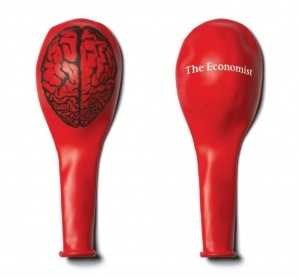 The Economist: Advertising Agency, Direction Mail, Idea, Funny Commercial, Graphics Design, Brain Balloon, Guerrilla Marketing, The Economist, Marketing Directo