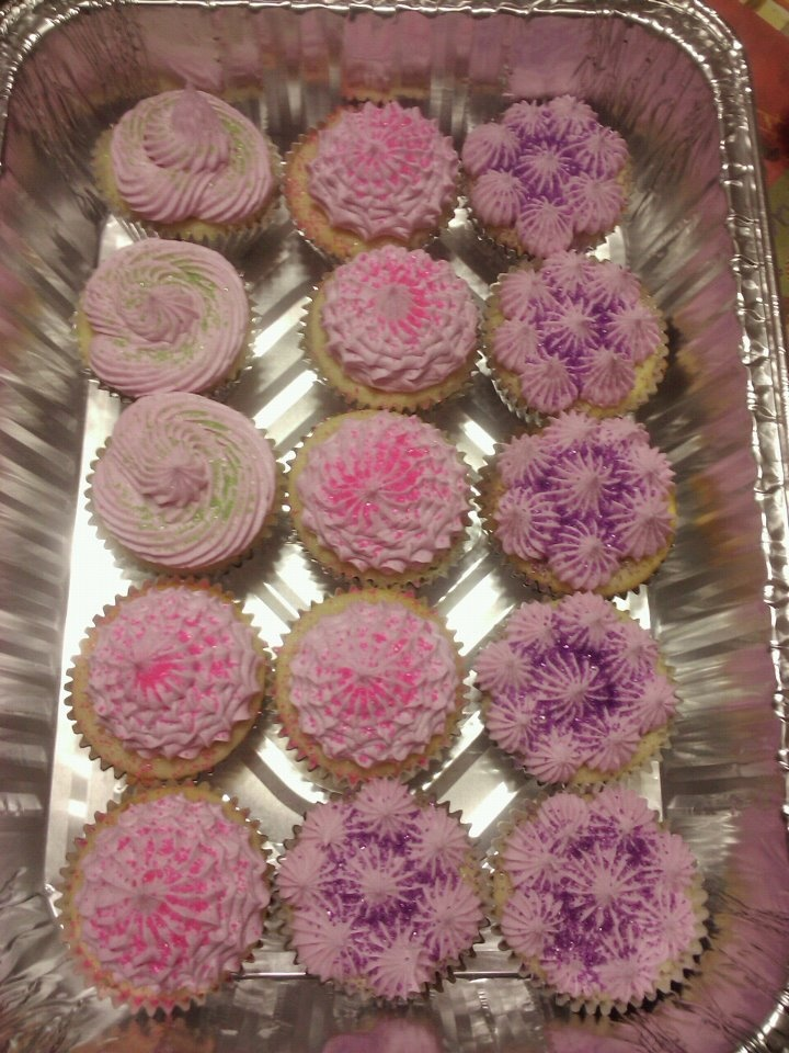 Cupcakes made with Eggless Cupcake Recipe
