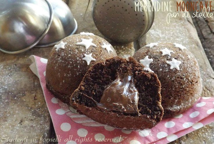 Merendine mooncake pan di stelle alla nutella