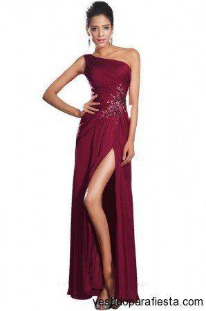 Vestidos largos color rojo de un solo hombro noche 2014 - 05 | Vestidos Para Fiestas 2014 style  #dress