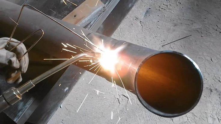 Grześ (DEMON) spawanie gazowe rury Ø 100