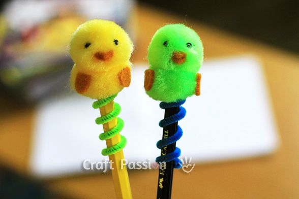 Easter Chick Pencil Topper