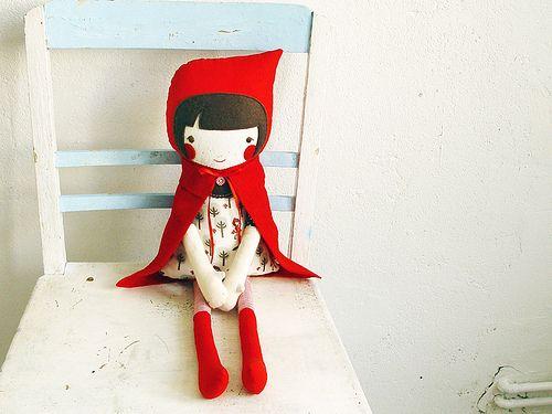 Revoluzza... Adorable little red riding hood!