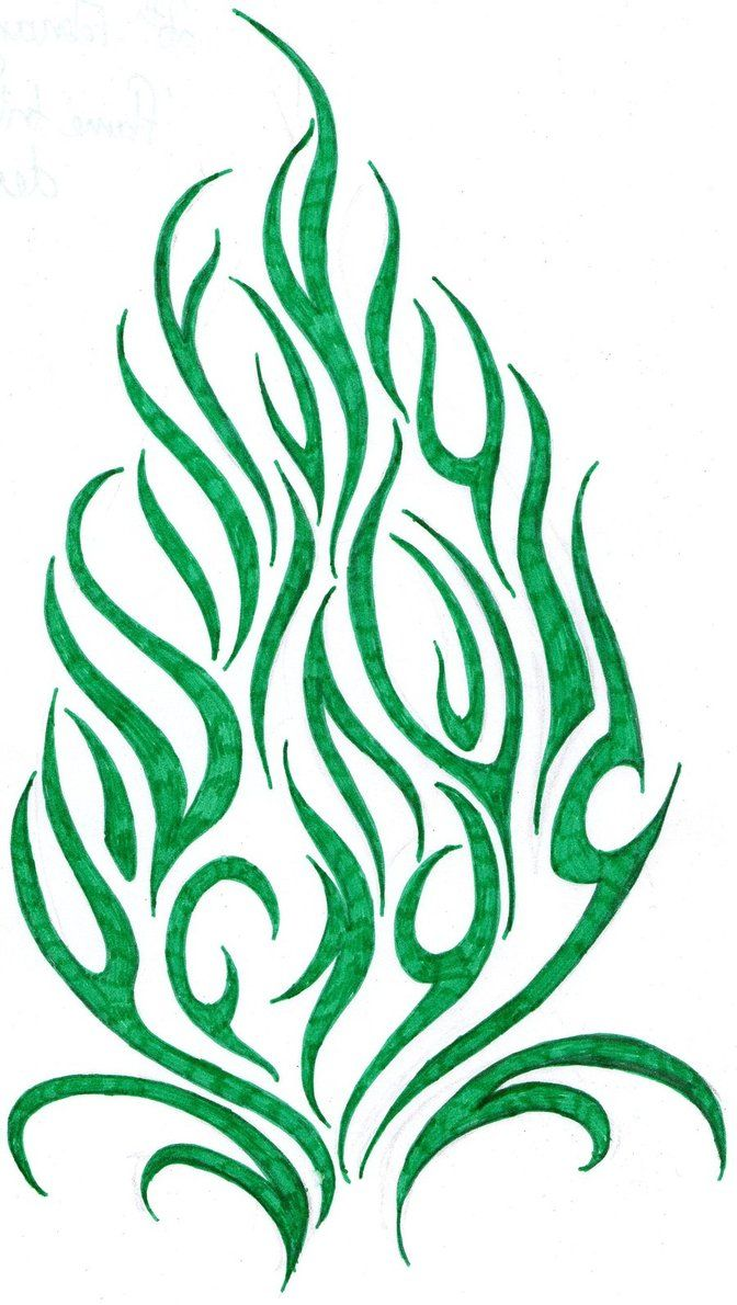 Flame Tribal Tattoo Design by Cherry Cheese Cake fire - flame ...