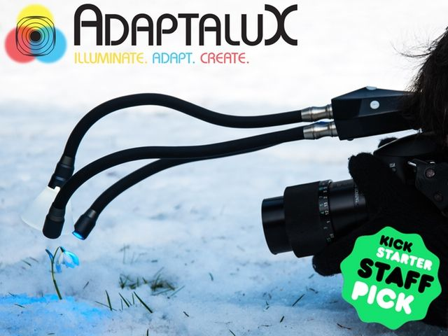Adaptalux has introduced a new portable lighting studio, likewise called Adaptalux, which is designed specifically for macro photography. The design is modular in nature, allowing photographers to 'rebuild' it in different ways to meet different needs. This is achieved using a core Control Pod into which Lighting Arms are plugged, with each Lighting Arm being customizable in regards to color, beam angle, brightness and diffusion.