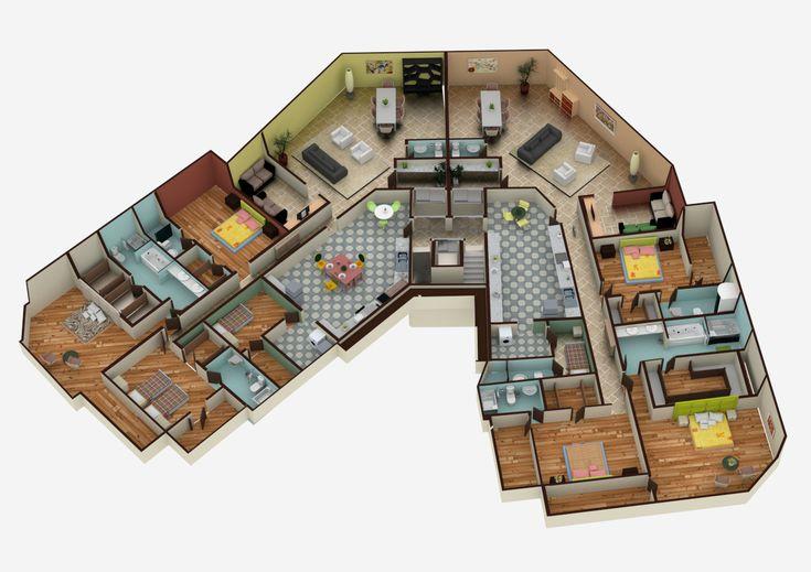 64 best images about maketas casa on pinterest house for Casa moderna 64