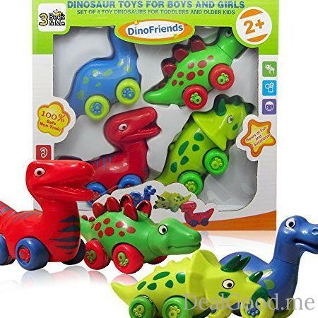 Dinosaur Toys for Boys and Girls Toddlers and Older Kids  Set of 4 Toy Dinosaurs