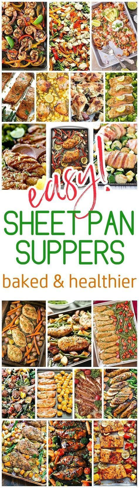 Easy One Sheet Pan Healthier Baked Family Suppers Recipes via Dreaming in DIY - Cleanup and Meal Prep is a BREEZE for quick lunch and simple dinner options. Using less oils and grease, these baked options will become your family favorites! #sheetpansuppers #sheetpanrecipes #sheetpandinners #onepanmeals #healthyrecipes #mealprep #easyrecipes #healthydinners #healthysuppers #healthylunches #easylunches #easydinners