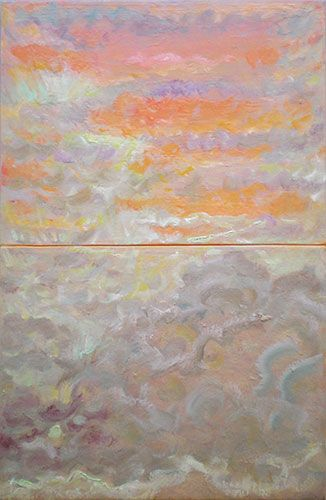 Janet Dawson - 'After the sunshower (diptych)', oil on canvas, 73 x 47.5 cm, POA