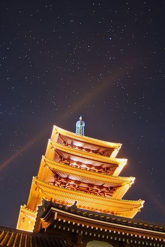Goju-no-to Tower of Sensoji Temple (浅草寺・五重塔)