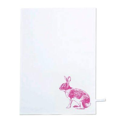 Geschirrtuch 'Hase' - pink - S.W.W.S.W.