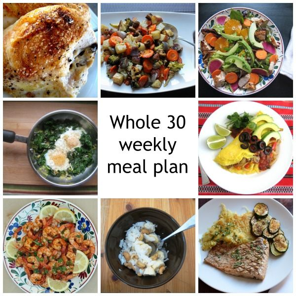 Whole 30 Meal Plan for the Week