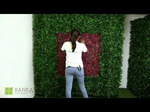 Cómo hacer un Muro Verde Artificial - YouTube