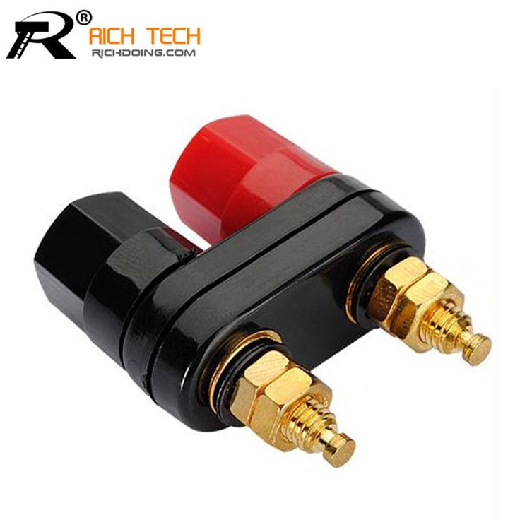 Top Selling Quality Banana plug Couple Terminals Red Black Connector Amplifier Terminal Binding Post Banana Speaker Plug Jack