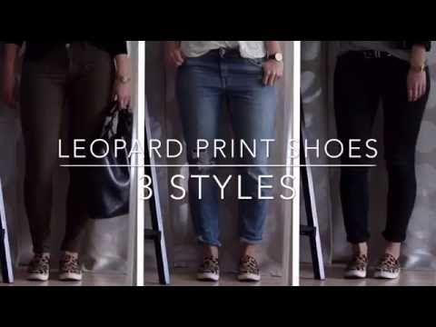 Video - How To Style: Leo Slip Ons, 3 Styles -  Leopardenmuster Schuhe kombinieren, Leo Slip-On Sneaker
