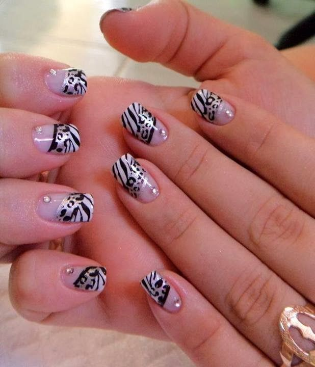 One layer builder gel overlay with LED polish animal print nail art design LED-polish-manicure-OPI-Nail-Polish-Lacquer-Pedicure-care-natural-healthcare-Gel-Nail-Polish-beauty-Acrylic-Nails-Nail-Art-USA-UK1