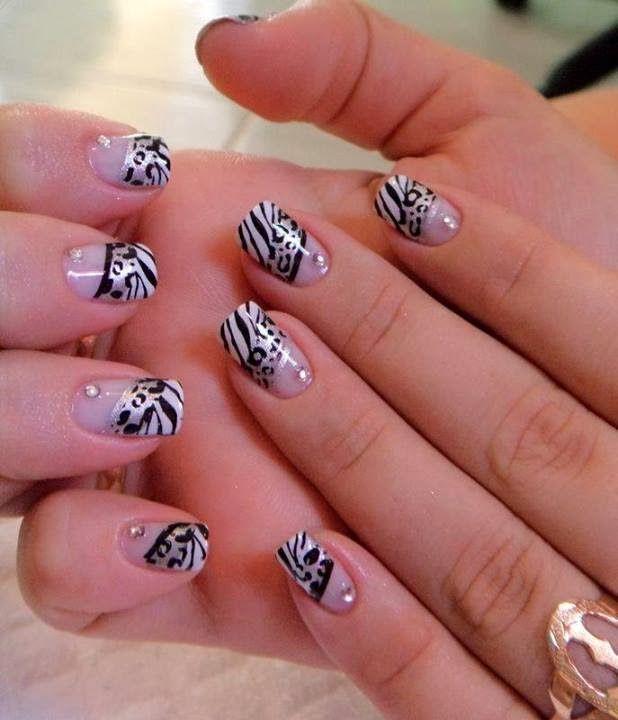 One layer builder gel overlay with LED polish animal print nail art design LED-polish-manicure-OPI-Nail-Polish-Lacquer-Pedicure-care-natural-healthcare-Gel-Nail-Polish-beauty-Acrylic-Nails-Nail-Art-USA-UK1