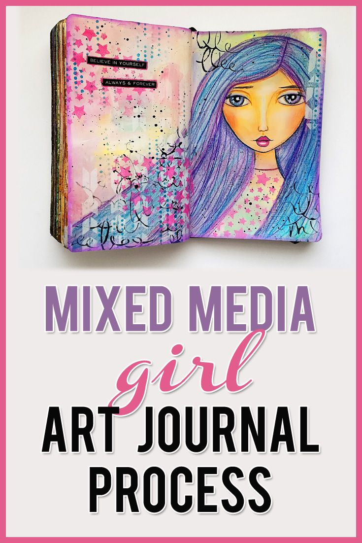 Video: Neocolor II Crayons Mixed Media Girl Face Portrait Painting Art Journal ♥ Using Neocolor II crayons to create a mixed media girl.