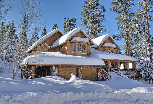 Spend winter holidays in a log cabin.