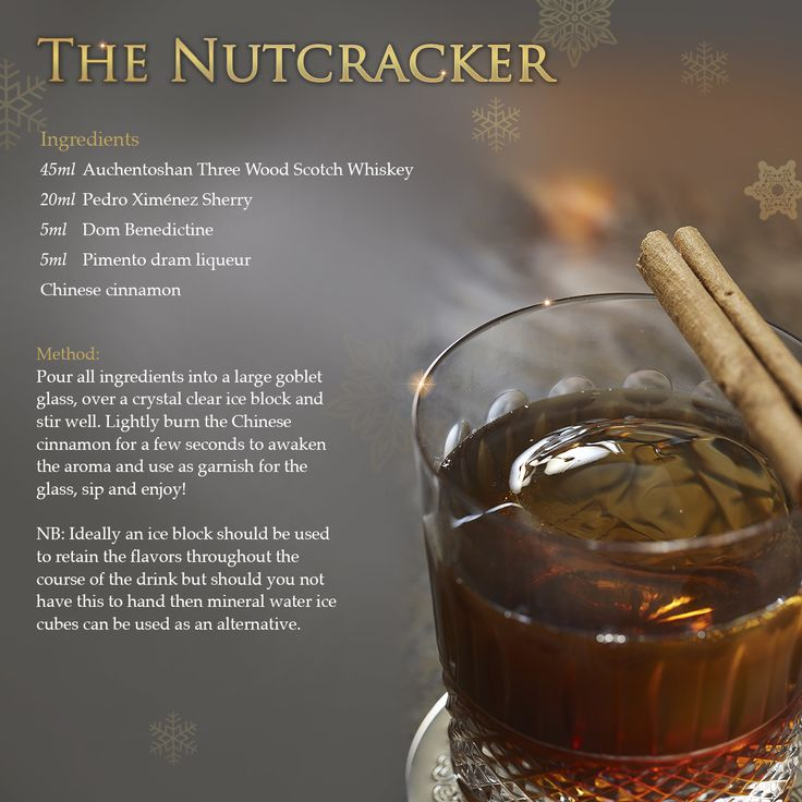 Inspired by the quintessential #Christmas tale and its renowned Tchaikovsky score, The #Nutcracker infuses a delicious blend of Scotch whisky, Pedro Ximenez sherry, a hint of French herbal liqueur, Dom Benedictine and pimento dram to recreate the spices of a traditional mulled wine. Sprinkled with burnt Chinese cinnamon for a perfect winter nightcap. Download this #ShangriLaLaLa recipe from Shangri-La Hotel, At #TheShard, #London at http://slhr.hk/NutcrackerRecipe.