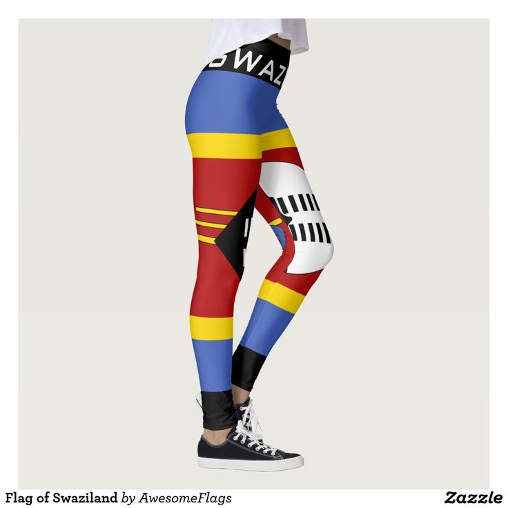 Flag of Swaziland Leggings