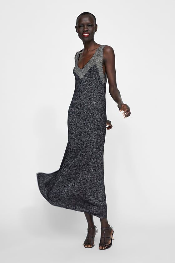 9da6df406a3 ZARA - WOMAN - TEXTURED WEAVE METALLIC THREAD DRESS
