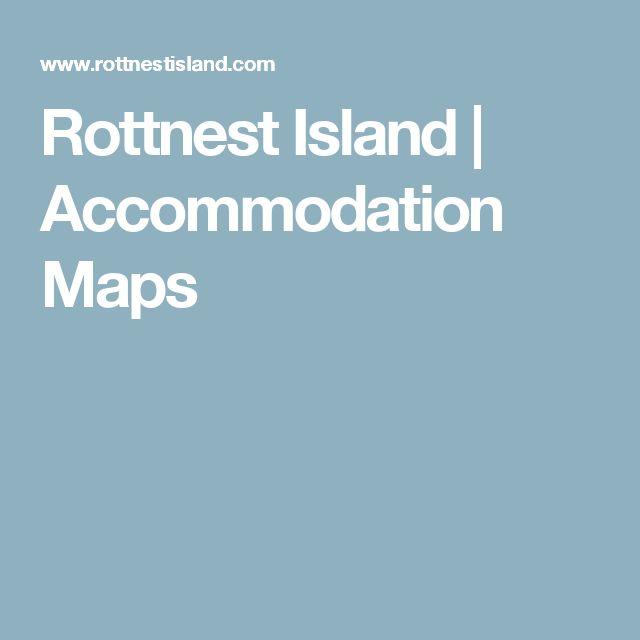 Rottnest Island   Accommodation Maps