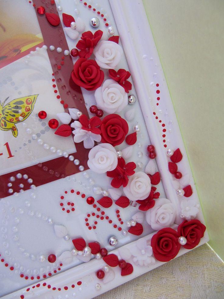 Hand decorated photo frame | Wedding accessories | Pinterest