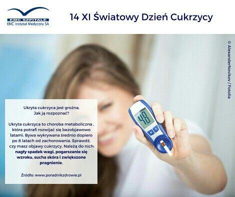 14.11 Światowy Dzień Cukrzycy, warto wiedzieć jak rozpoznać tę chorobę. #cukrzyca #rozpoznanie #objawy #ukrytacukrzyca #zdrowie #medycyna #dziencukrzycy #dbajosiebie #dbajozdrowie #emc #emcszpitale