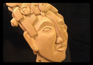 Mexican Decorations - Wooden Mayan Wall Art ~ Mexican Chic Boutique #mayan #mask