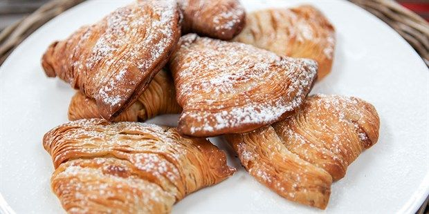 Try this Candied orange and ricotta sfogliatelle recipe by Chef Matt Moran. This recipe is from the show The Great Australian Bake Off.