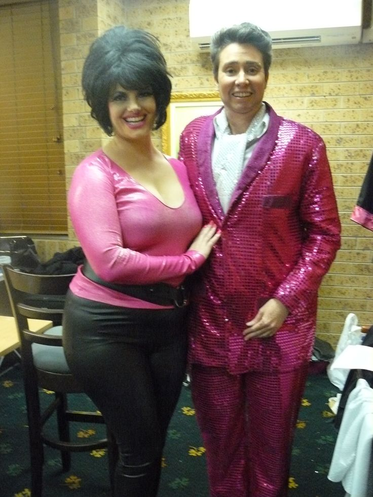 Me, as Pastor Randy Powers, with Fannie Mae Powers (aka The Duchess), getting ready to perform in Kitka Ministries. Miss Kitka's House of Burlesque show, Kitka Ministries July 2013.