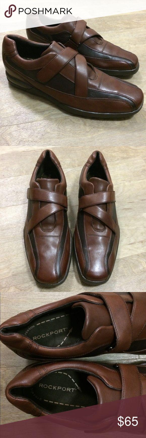 Rockport Remington Leather Shoes Size 11 Size 11 Color: Brown/Dark Brown Rockport Shoes