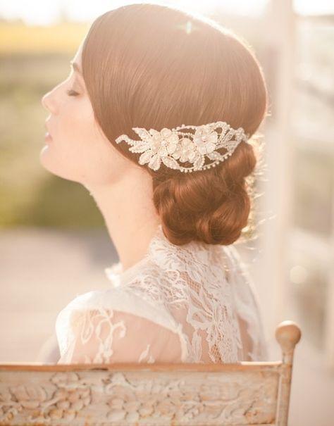 15 Peinados de novia con exquisitos tocados por Jannie Baltzer - Bodas