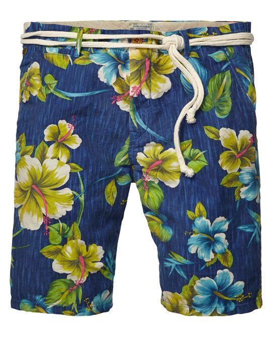 Cotton/linen slub beach shorts - Scotch & Soda